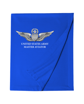 US Army Master Aviator Embroidered Dryblend Stadium Blanket