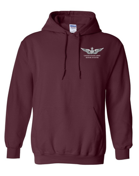 US Army Senior Aviator Embroidered Hooded Sweatshirt