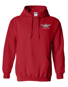 US Army Master Aviator Embroidered Hooded Sweatshirt