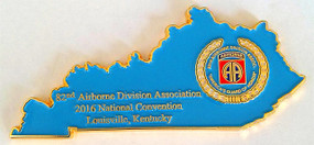 82nd Airborne Division Association 2016 Annual Convention Challenge Coin Louisville, Kentucky