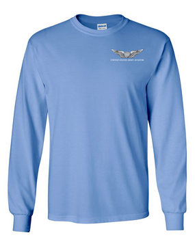 US Army Aviator Long-Sleeve Cotton T-Shirt