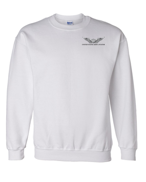 US Army Aviator Embroidered Sweatshirt