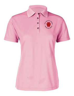 "28th Infantry Division (C) ""The Bloody Bucket"" Ladies Embroidered Moisture Wick Polo Shirt"