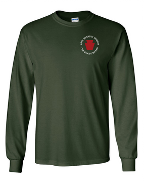 "28th Infantry Division (C) ""The Bloody Bucket"" Long-Sleeve Cotton T-Shirt"