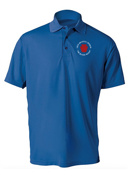 "28th Infantry Division (C) ""The Bloody Bucket"" Embroidered Moisture Wick Polo  Shirt"