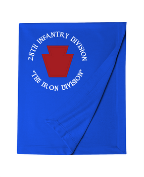 "28th Infantry Division ""The Iron Division"" (C) Embroidered Dryblend Stadium Blanket"