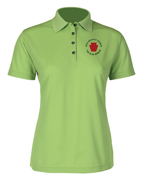 "28th Infantry Division (C) ""The Iron Division"" Ladies Embroidered Moisture Wick Polo Shirt"