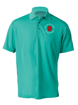 "28th Infantry Division (C) ""The Iron Division"" Embroidered Moisture Wick Polo  Shirt"