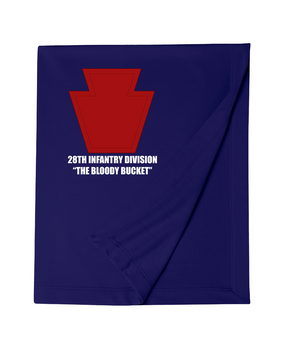 "28th Infantry Division ""The Bloody Bucket""  Embroidered Dryblend Stadium Blanket"