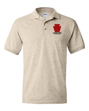 "28th Infantry Division ""The Bloody Bucket"" Embroidered Cotton Polo Shirt"