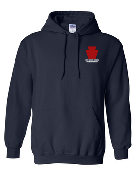 "28th Infantry Division  ""The Bloody Bucket"" Embroidered Hooded Sweatshirt"