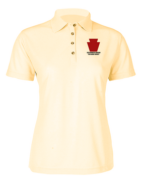"28th Infantry Division  ""The Bloody Bucket"" Ladies Embroidered Moisture Wick Polo Shirt"