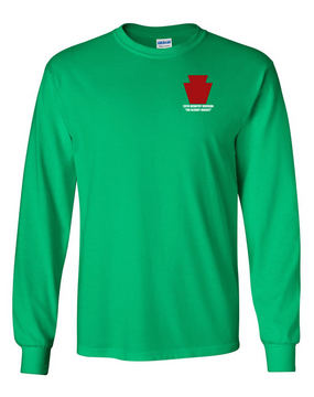 "28th Infantry Division  ""The Bloody Bucket"" Long-Sleeve Cotton T-Shirt"