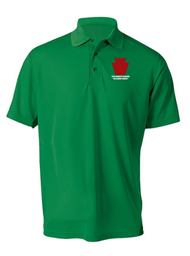 "28th Infantry Division  ""The Bloody Bucket"" Embroidered Moisture Wick Polo  Shirt"