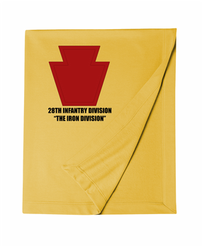 "28th Infantry Division ""The Iron Division""  Embroidered Dryblend Stadium Blanket"