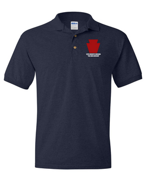 "28th Infantry Division  ""The Iron Division"" Embroidered Cotton Polo Shirt"