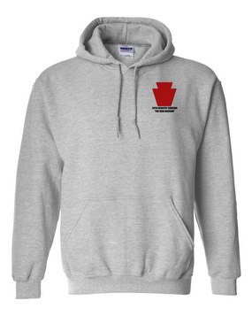 "28th Infantry Division  ""The Iron Division"" Embroidered Hooded Sweatshirt"