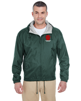 "28th Infantry Division  ""The Iron Division"" Embroidered Fleece-Lined Hooded Jacket"