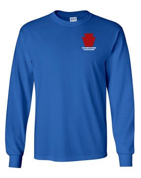 "28th Infantry Division  ""The Iron Division"" Long-Sleeve Cotton T-Shirt"