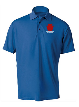 "28th Infantry Division  ""The Iron Division"" Embroidered Moisture Wick Polo  Shirt"