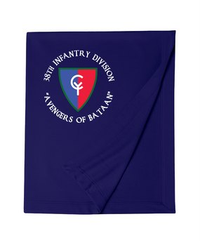 "38th Infantry Division (C) ""Avengers of Bataan"" Embroidered Dryblend Stadium Blanket"