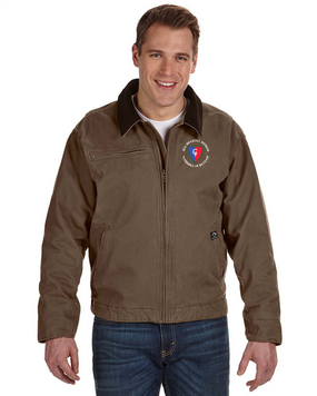"38th Infantry Division (C)  ""Avengers of Bataan"" Embroidered DRI-DUCK Outlaw Jacket"