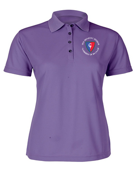 "38th Infantry Division (C)  ""Avengers of Bataan"" Ladies Embroidered Moisture Wick Polo Shirt"