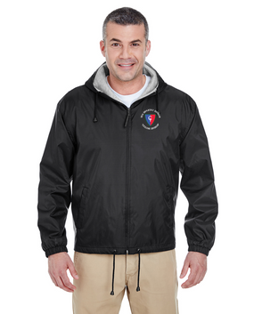 """38th Infantry Division (C)   """"Cyclone Division"""" Embroidered Fleece-Lined Hooded Jacket"""