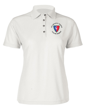 "38th Infantry Division (C)  ""Cyclone Division"" Ladies Embroidered Moisture Wick Polo Shirt"