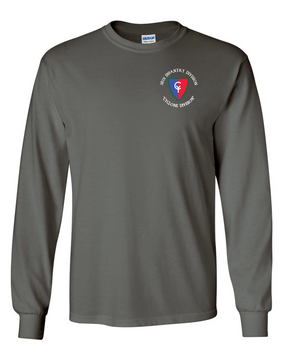 "38th Infantry Division (C)  ""Cyclone Division"" Long-Sleeve Cotton T-Shirt"