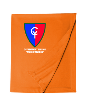 "38th Infantry Division  ""Cyclone Division"" Embroidered Dryblend Stadium Blanket"