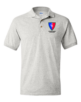 "38th Infantry Division  ""Cyclone Division"" Embroidered Cotton Polo Shirt"