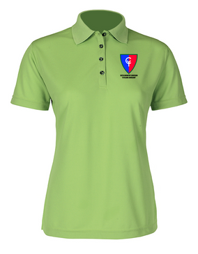 "38th Infantry Division  ""Cyclone Division"" Ladies Embroidered Moisture Wick Polo Shirt"