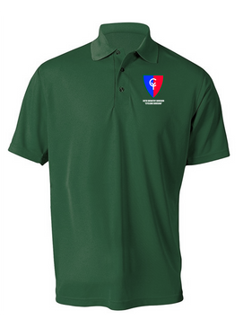 "38th Infantry Division  ""Cyclone Division"" Embroidered Moisture Wick Polo  Shirt"