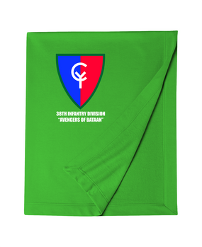"38th Infantry Division  ""Avengers of Bataan"" Embroidered Dryblend Stadium Blanket"