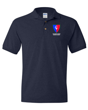 "38th Infantry Division  ""Avengers of Bataan"" Embroidered Cotton Polo Shirt"