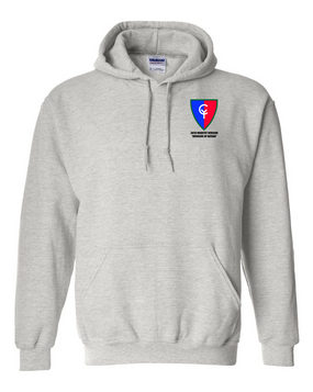 "38th Infantry Division    ""Avengers of Bataan"" Embroidered Hooded Sweatshirt"