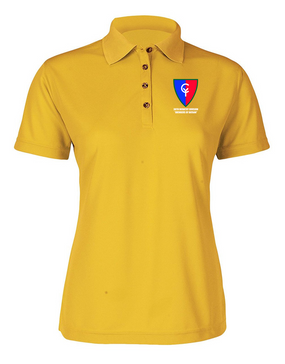 "38th Infantry Division  ""Avengers of Bataan"" Ladies Embroidered Moisture Wick Polo Shirt"