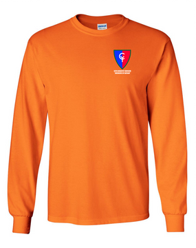 "38th Infantry Division  ""Avengers of Bataan"" Long-Sleeve Cotton T-Shirt"