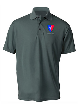 "38th Infantry Division  ""Avengers of Bataan"" Embroidered Moisture Wick Polo  Shirt"