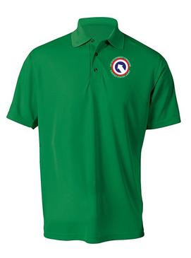 COSCOM Embroidered Moisture Wick Polo  Shirt