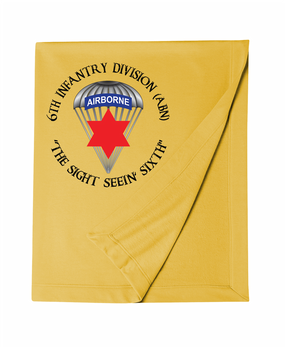 6th Infantry Division (Airborne) Embroidered Dryblend Stadium Blanket