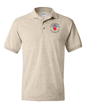 6th Infantry Division (Airborne) Embroidered Cotton Polo Shirt