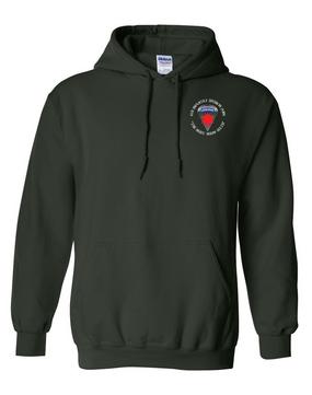 6th Infantry Division (Airborne) Embroidered Hooded Sweatshirt