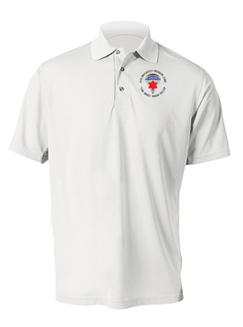 6th Infantry Division (Airborne) Embroidered Moisture Wick Polo  Shirt