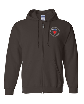 6th Infantry Division (Airborne) Embroidered Hooded Sweatshirt with Zipper