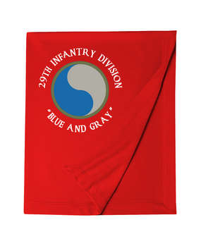 "29th Infantry Division (C) ""Blue and Gray""  Embroidered Dryblend Stadium Blanket"
