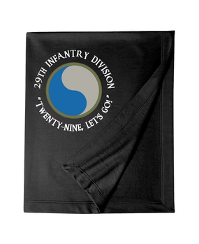"29th Infantry Division (C) ""Twenty-Nine  Let's Go""  Embroidered Dryblend Stadium Blanket"