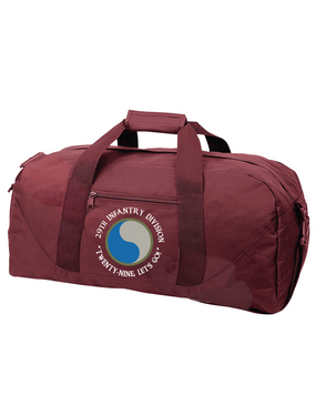 "29th Infantry Division (C) ""Twenty-Nine  Let's Go""  Embroidered Duffel Bag"