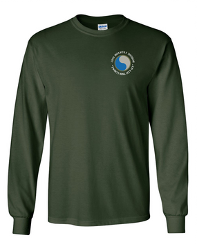 "29th Infantry Division (C) ""Twenty-Nine  Let's Go"" Long-Sleeve Cotton T-Shirt"